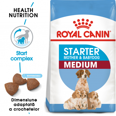 Royal Canin Medium Starter Mother & BabyDog, mama și puiul,  hrană uscată câini,4 kg [0]