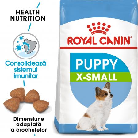 Royal Canin X-Small Puppy, hrană uscată câini junior, 500 g [0]