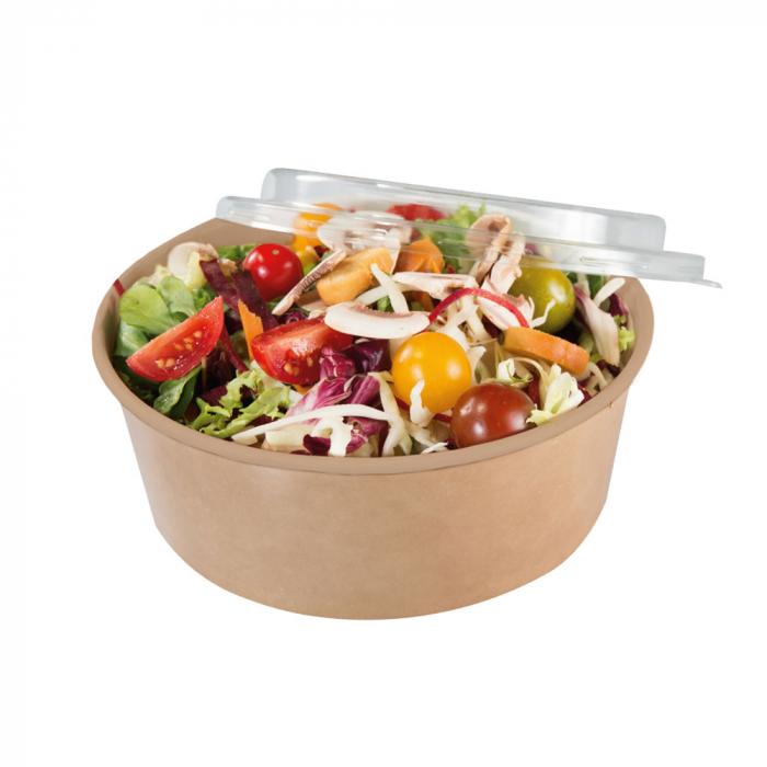 Bol salata CAESAR 750ml, diam.15cm - hartie kraft impregnata PLA - inalt 6 cm [0]