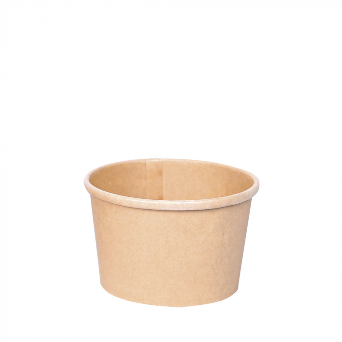 Bol supa MINESTRONE 200ml, diam. 9,7cm - hartie kraf impregnata PLA - inalt 6 cm [0]
