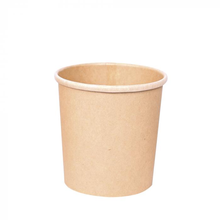Bol supa MINESTRONE 500ml, diam. 9,7cm - hartie kraf impregnata PLA - inalt 9.6 cm [0]