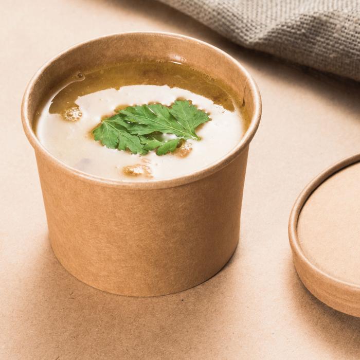 Bol supa MINESTRONE 750ml, diam. 11.6cm - hartie kraf impregnata PLA - inalt 6 cm [0]
