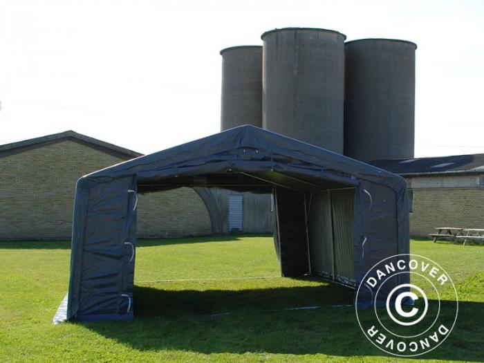 Cort STORAGE PRO culoare gri - prelata PVC 500g - 5x8x2.5x3.3 m [0]