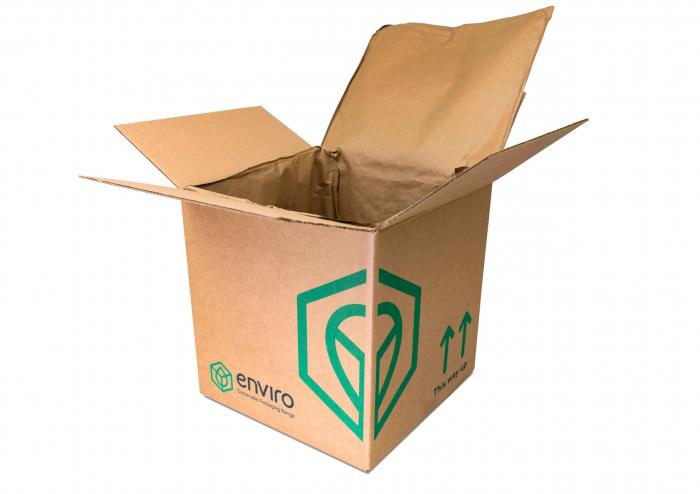 Cutie carton pereti dubli cu izolator termic - 100 reciclabil PLUUMO BOX - 260 x 260 x 260mm [0]