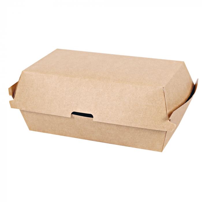 Cutie sandwich CLUB 20.7x10.7x7.9cm - hartie kraft impregnata PLA [0]