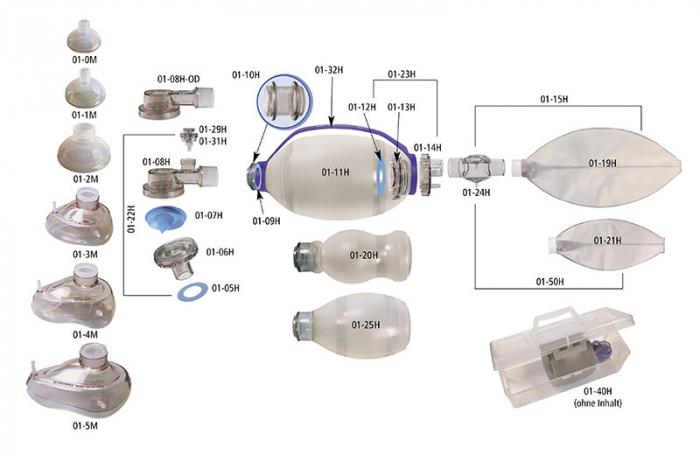 Cutie transport balon resuscitare - din plastic transparent [0]