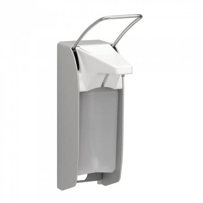 Dispenser sapun AMPRI  din aluminiu - cu clapa scurta inox - pentru 500ml [0]
