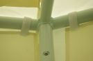 Elemente imbinare pavilion 10 colturi - coturi, rozeta acoperis, surub inaltare -  set 12 buc [3]
