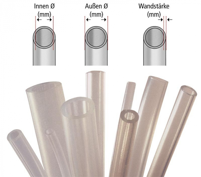 Furtun aspirator secretii - 1 m - diam. 10/16mm - autoclavabil [0]