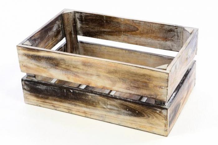 Lada depozitare VINTAGE - din lemn de Albizia - 47 x 29,5 x 20cm [0]