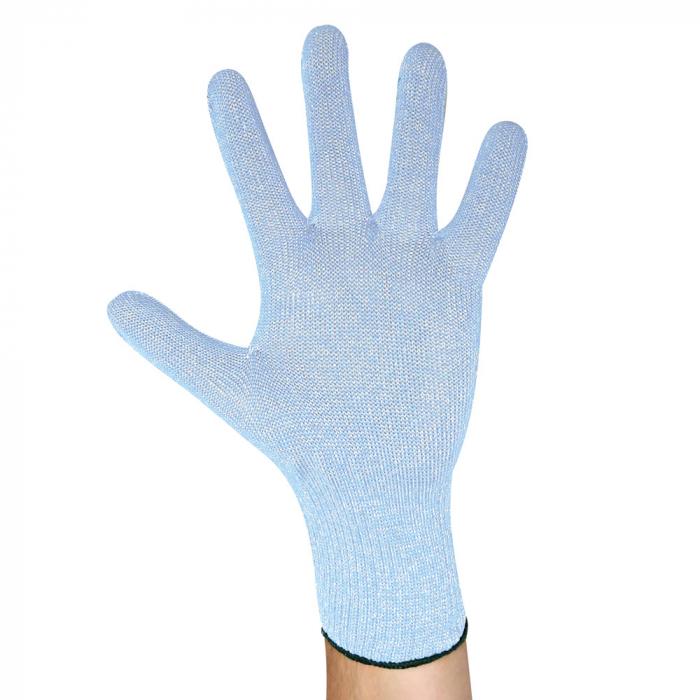 Manusa rezistenta la taiere CUT ALLFOOD SENSITIVE STEEL - albastru deschis  cu insertie de inox [0]