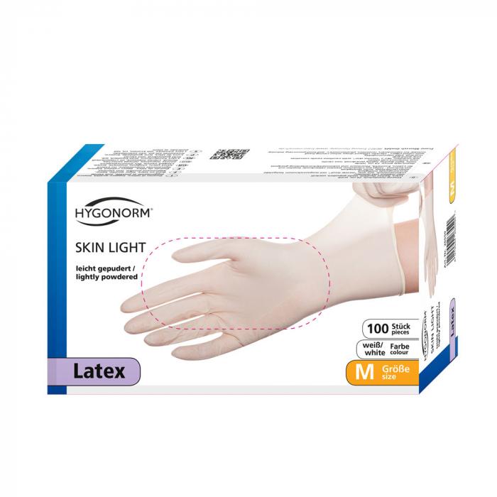 Manusi consult SKIN LIGHT-latex, usor pudrate-diverse marimi, albe-100 buc [1]