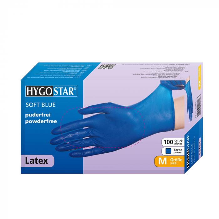 Manusi consult SOFT BLUE-diverse marimi-latex, fara pudra-24 cm-100 buc [1]