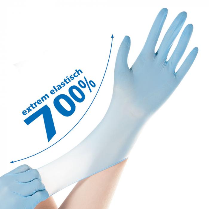 Manusi examinare SAFE SUPER STRETCH-nitril, fara pudra-elasticitate 700%-diverse marimi si culori,100 buc [2]