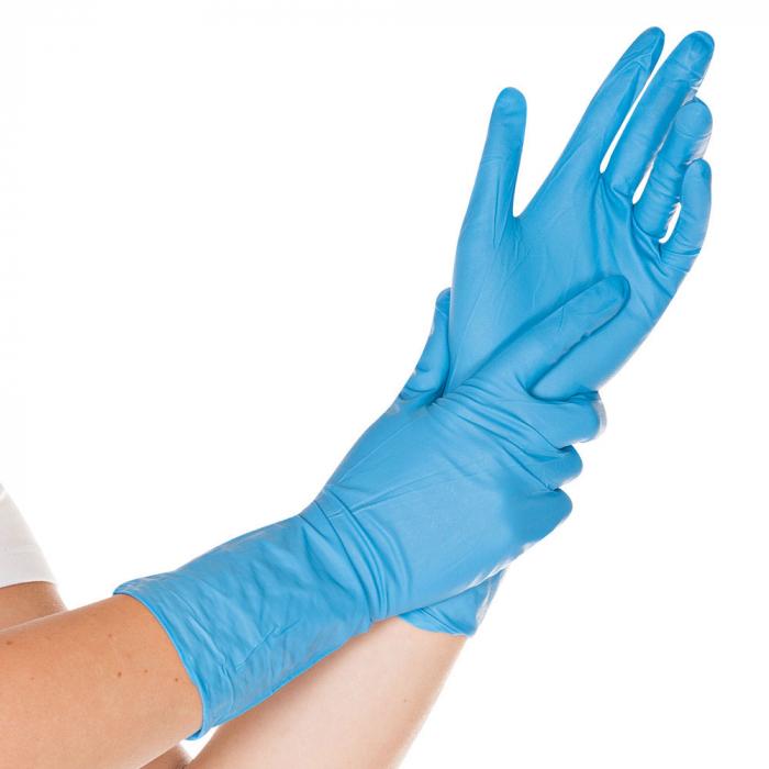Manusi protectie chimica SUPER HIGH RISK-nitril fara pudra-culoare albastru-diverse marimi-30 cm-50 buc [0]