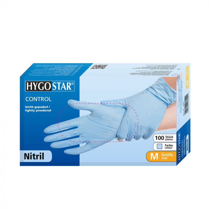 Manusi unica folosinta CONTROL-nitril, usor pudrate-24 cm-diverse marimi-100 buc [1]