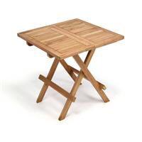 Masa pliabila DIVERO din lemn de TEAK pentru sezlong 50x50 cm - finisat [0]