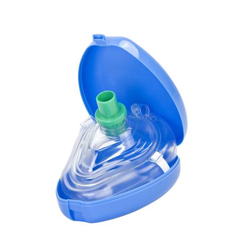 Masca respiratie gura la gura - 2 ventile - HERZ MED - cutie CPR mask rosu [0]