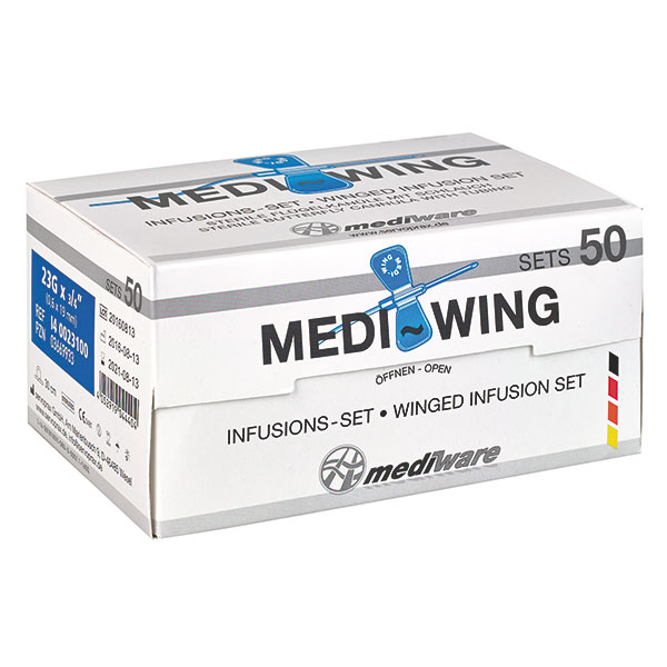 Microperfuzor MEDI_WING tip fluture - cu ac 18G - roz 1.20x19 mm - Steril [0]
