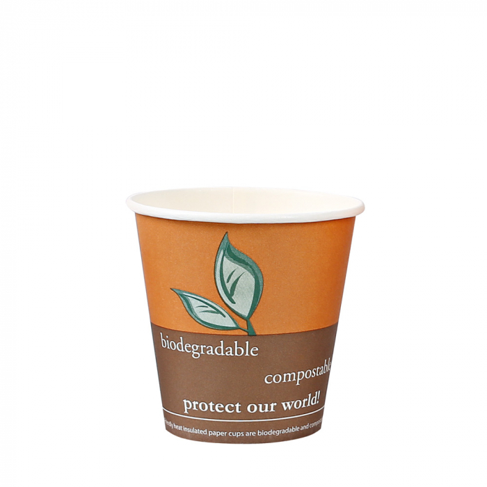 "Pahar cafea Bio "" COFFEE""  - 1 perete - din carton PLA-stratificat - 12 oz, 300ml, 8cm - 50 buc [0]"