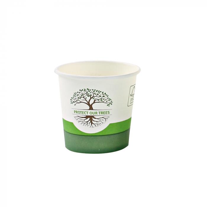 Pahar cafea Bio NATURAL Protect TREE certificat FSC - 1 perete - din carton PLA-stratificat - 16 oz, 400ml, 9cm - 50 buc [0]