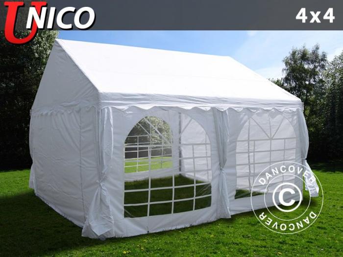 Pavilion - cort 4x4m UNICO - culoare alb [1]
