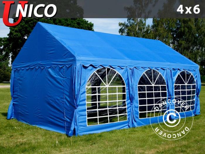 Pavilion - cort 4x6m UNICO - culoare albastru - velcro [0]