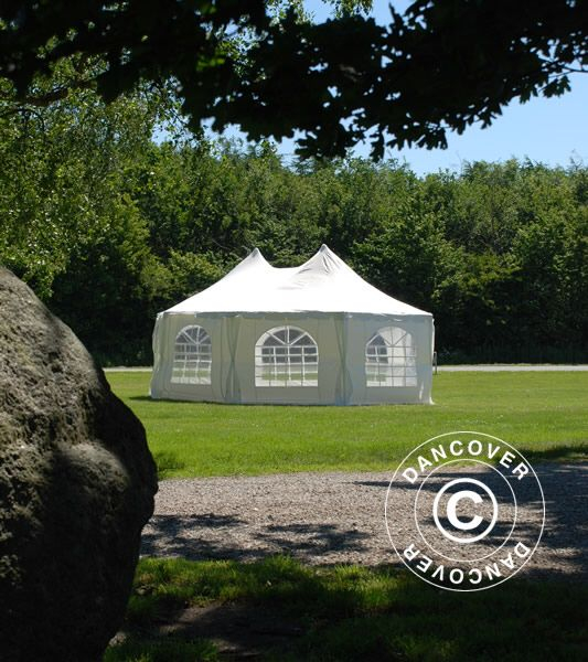 Pavilion - cort in 8 colturi MARQUEE Elegance - 6.80 x 5 metri , culoare alb [0]