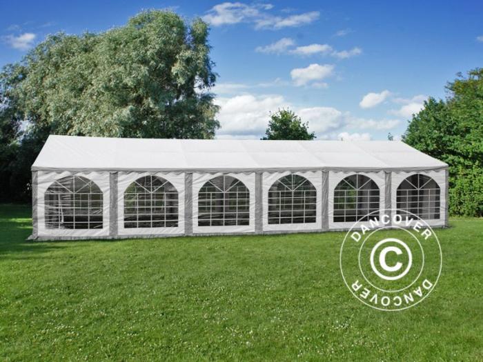 Pavilion - cort MARQUEE Exclusive PVC 6x12 metri - culoare alb cu ferestre [0]
