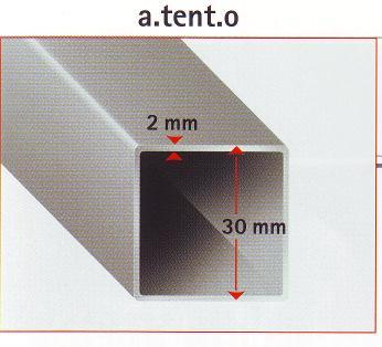 Picior Aluminiu pentru pavilion Profi - piesa schimb [1]