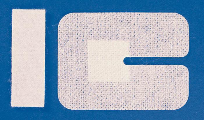 Plasture fixare branula - cu slit - 6x8 cm [0]