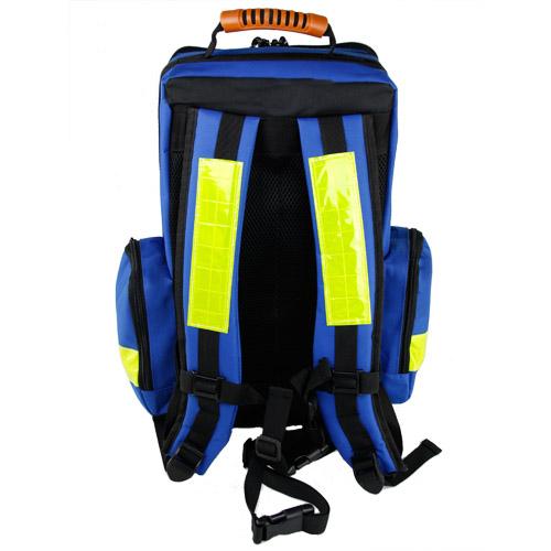 Rucsac medic pentru ambulanta PRO BLUE din TeflonSHIELD - impermeabil - 45x25x20 cm - cu fermoar si 5 module [1]