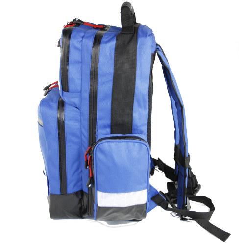 Rucsac medic pentru ambulanta PRO BLUE din TeflonSHIELD - impermeabil - 45x25x20 cm - cu fermoar si 5 module [2]
