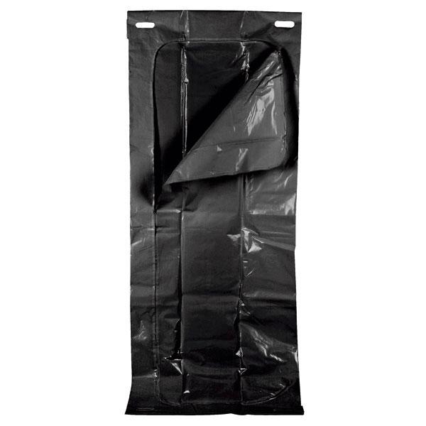 Sac transport funerar incinerabil  180 Kg - 234x90 cm - inchidere cu fermoar - 4 manere pentru carat, negru [0]