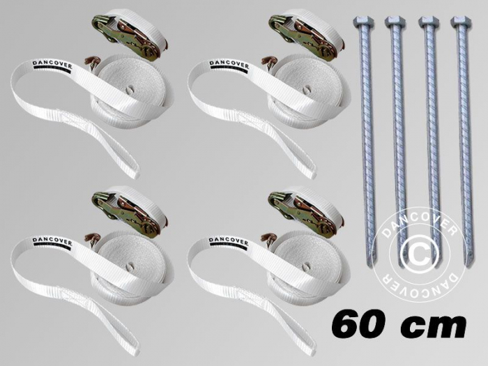 Safety pack - chinga 8m + piron prindere 60 cm - pentru pavilioane, vant puternic [1]