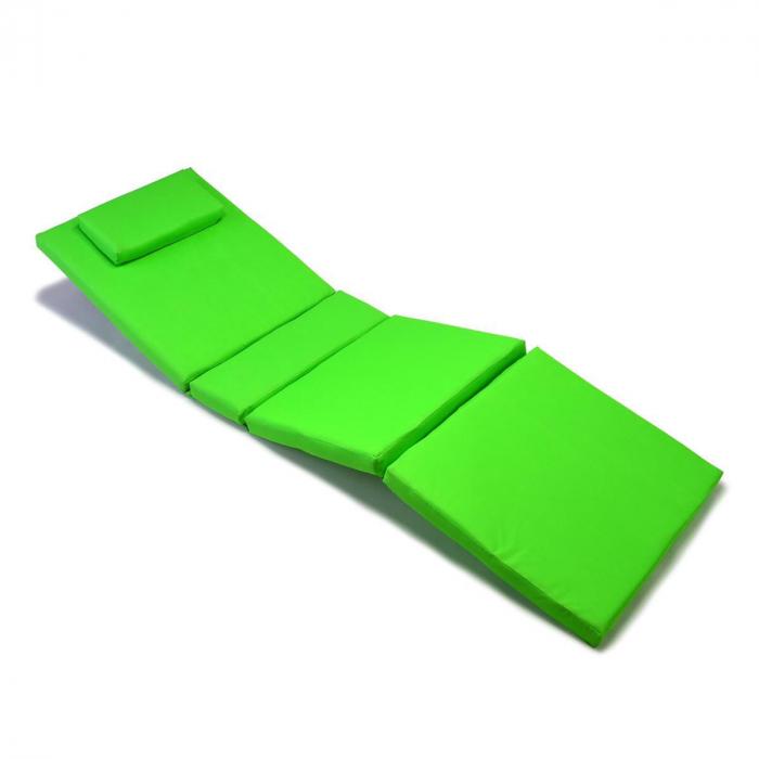 Saltea din burete cu perna - 4 segmente - culoare verde [0]
