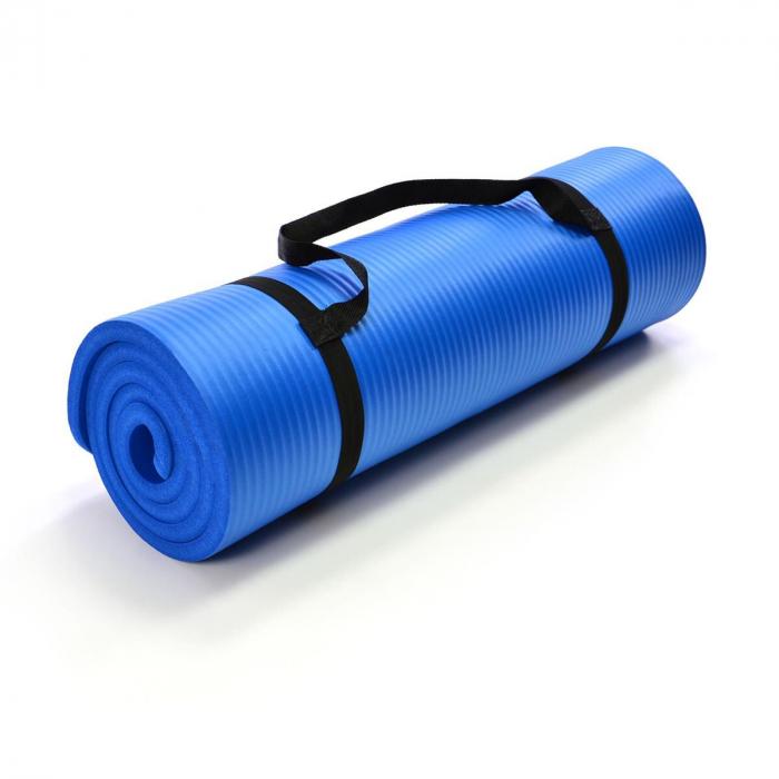 Saltea pentru gimnastica si yoga - 190 x 102 x 1.5 cm - albastru [0]
