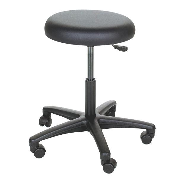 Scaun medic - rotativ 360grade - inaltime reglabila - negru [0]