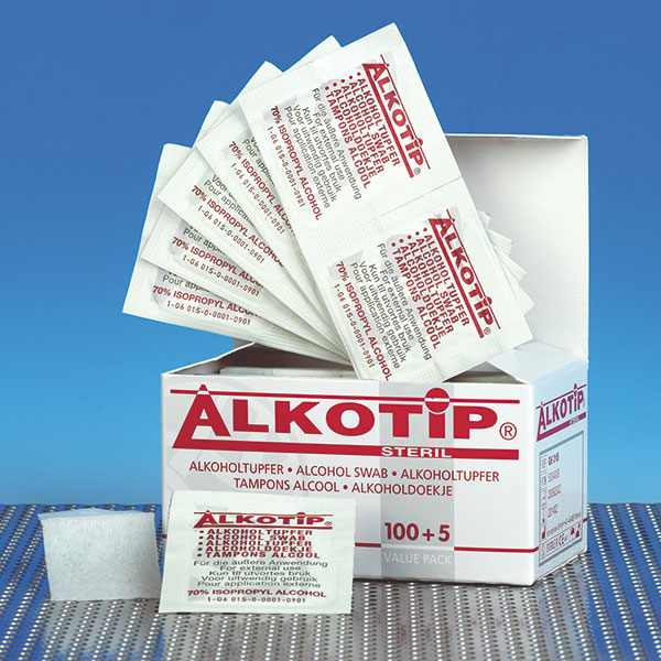 Servetele alcool ALKOTIP 6.5 x 3 cm - plic igienic - box 200 buc [0]