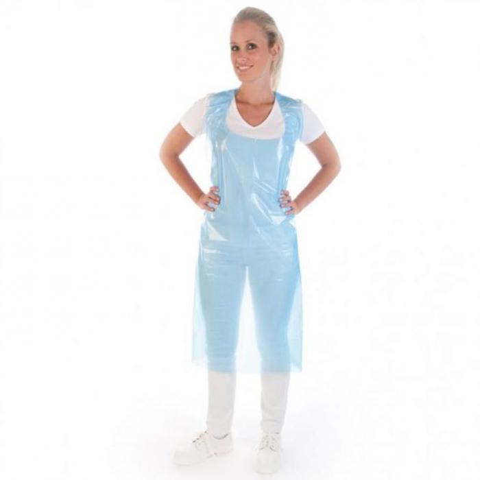 Sort protectie din LDPE 20my - albastru, unica folosinta - 125x70 cm [0]