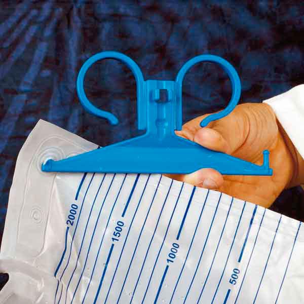 Suport  DCT pentru punga standard de urina - din PVC culoare albastru sau verde [1]
