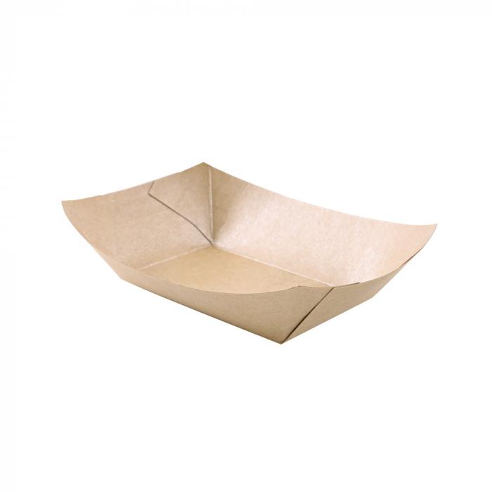 Tava mancare TASTY 20x13.8x5.3cm - hartie kraft impregnata PLA - 800 ml [1]