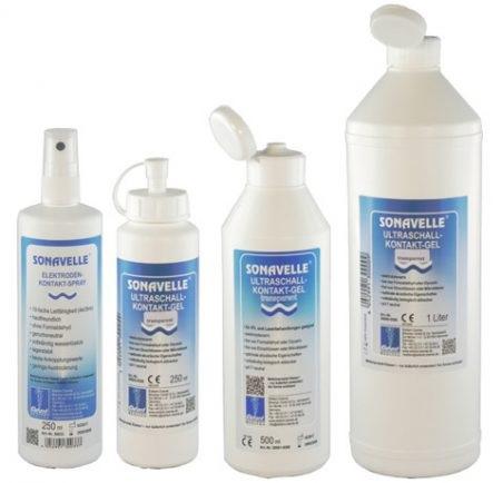 Ultrasound gel contact SONAVELLE transparent - diagnostic si terapie ( IPL si laser) 250 ml [0]