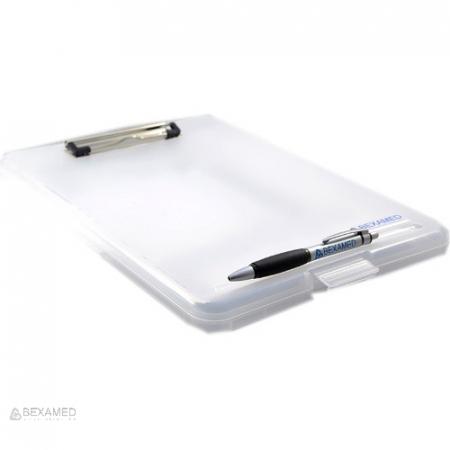 Clipboard cu cutie depozitare fise medicale - format A4 - plastic transparent [1]
