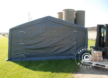 Cort STORAGE PRO culoare gri - prelata PVC 500g - 5x8x2.5x3.3 m [1]