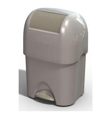 Cos de gunoi pentru deseuri periculoase Nappyminder alb [1]