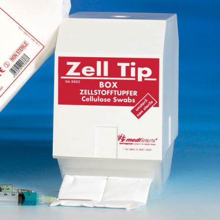 Dispenser ZELLTIP pentru tampoane celuloza -alb/rosu [0]