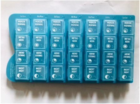 Distribuitor medicamente saptamanal - 4 locasuri/ 7 zile [0]