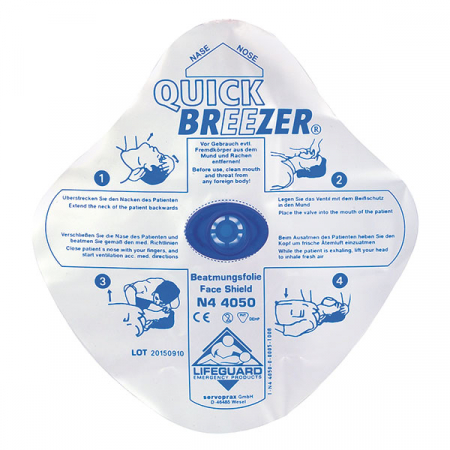 Folie respiratie gura la gura QUICK-BREEZER -  cu ventil [1]