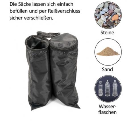 Greutate sustinere pavilion - tip geanta - umplere cu apa sau nisip - impermeabil, set 4 buc [2]